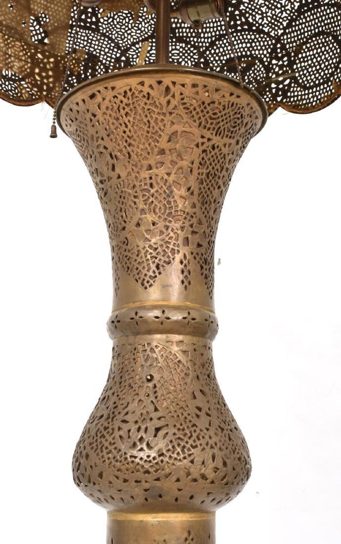 24 in. Turkish Style Pierced Brass Floor Lamp - 5