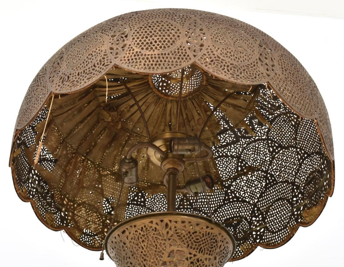 24 in. Turkish Style Pierced Brass Floor Lamp - 6