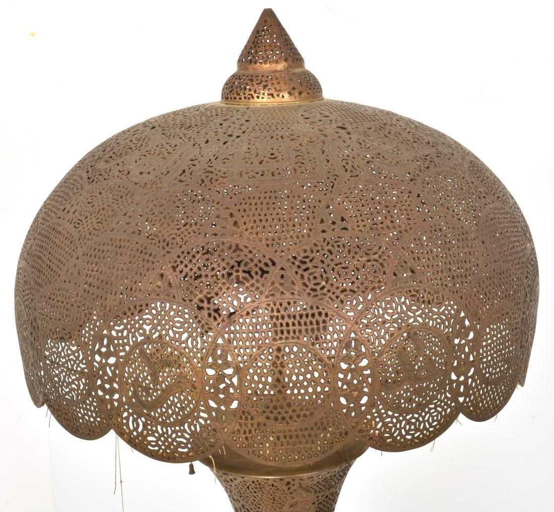 24 in. Turkish Style Pierced Brass Floor Lamp - 7