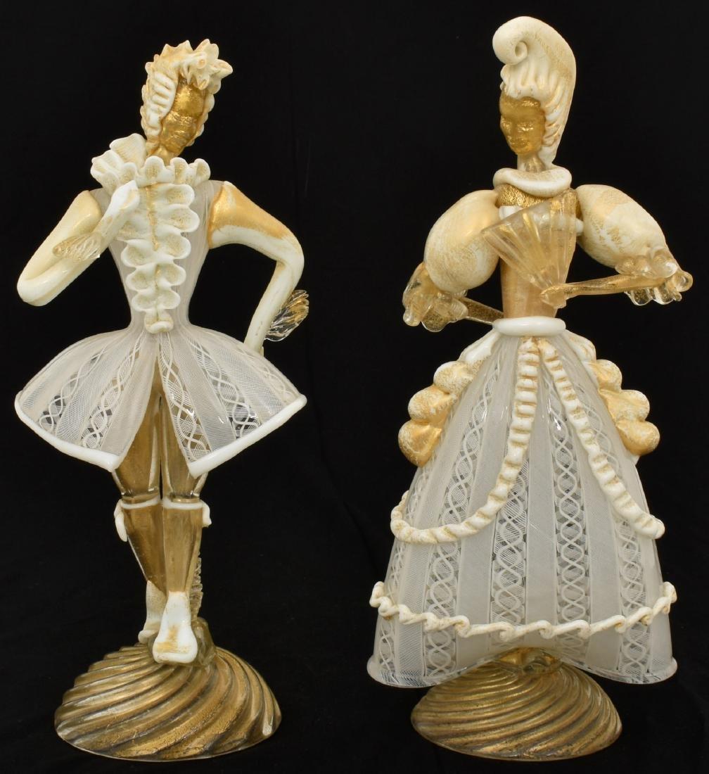 Pr. Murano Glass Lady Figures