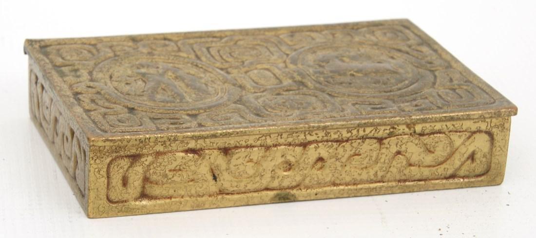 2 Tiffany Studios Bronze Desk Set Pieces - 2