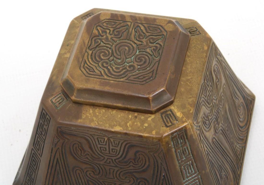 2 Tiffany Studios Bronze Desk Set Pieces - 7