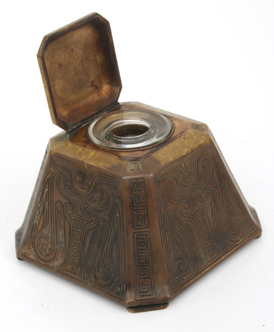 2 Tiffany Studios Bronze Desk Set Pieces - 8