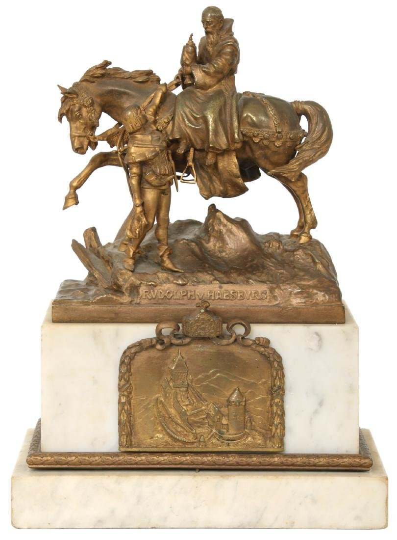 "Carl Kauba Bronze ""Rudolph of Habsburg"""