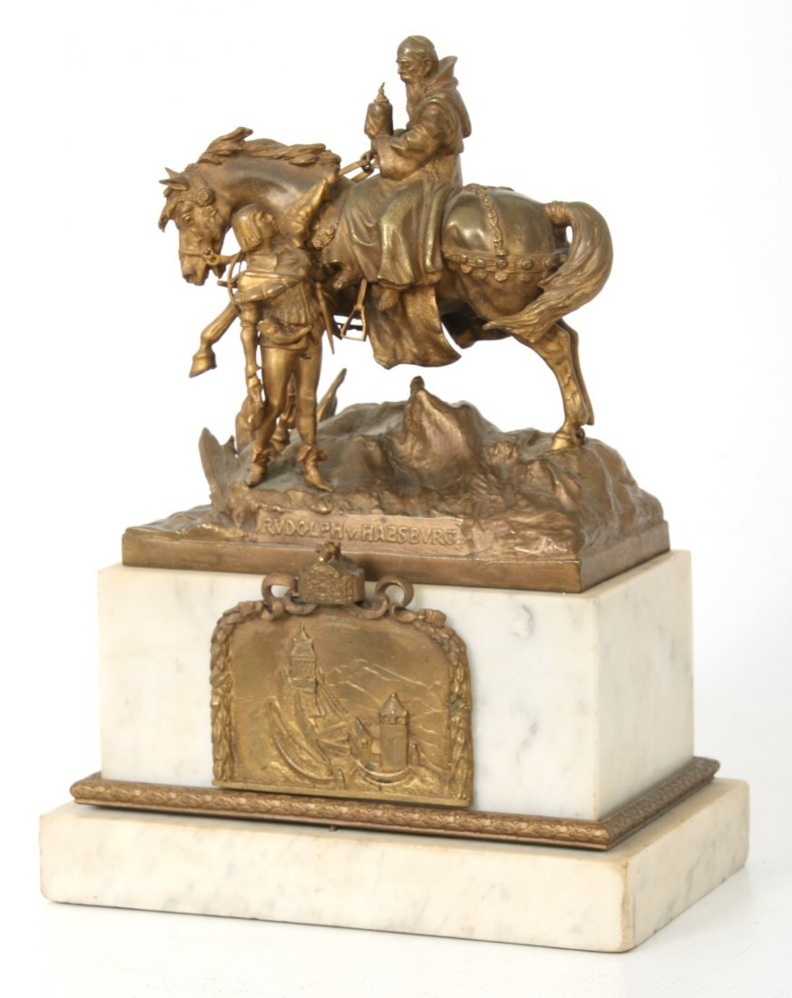 "Carl Kauba Bronze ""Rudolph of Habsburg"" - 2"