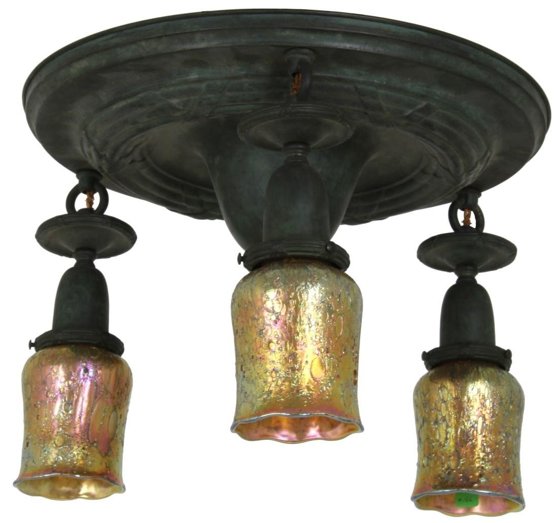 3 Light Brass Ceiling Fixture