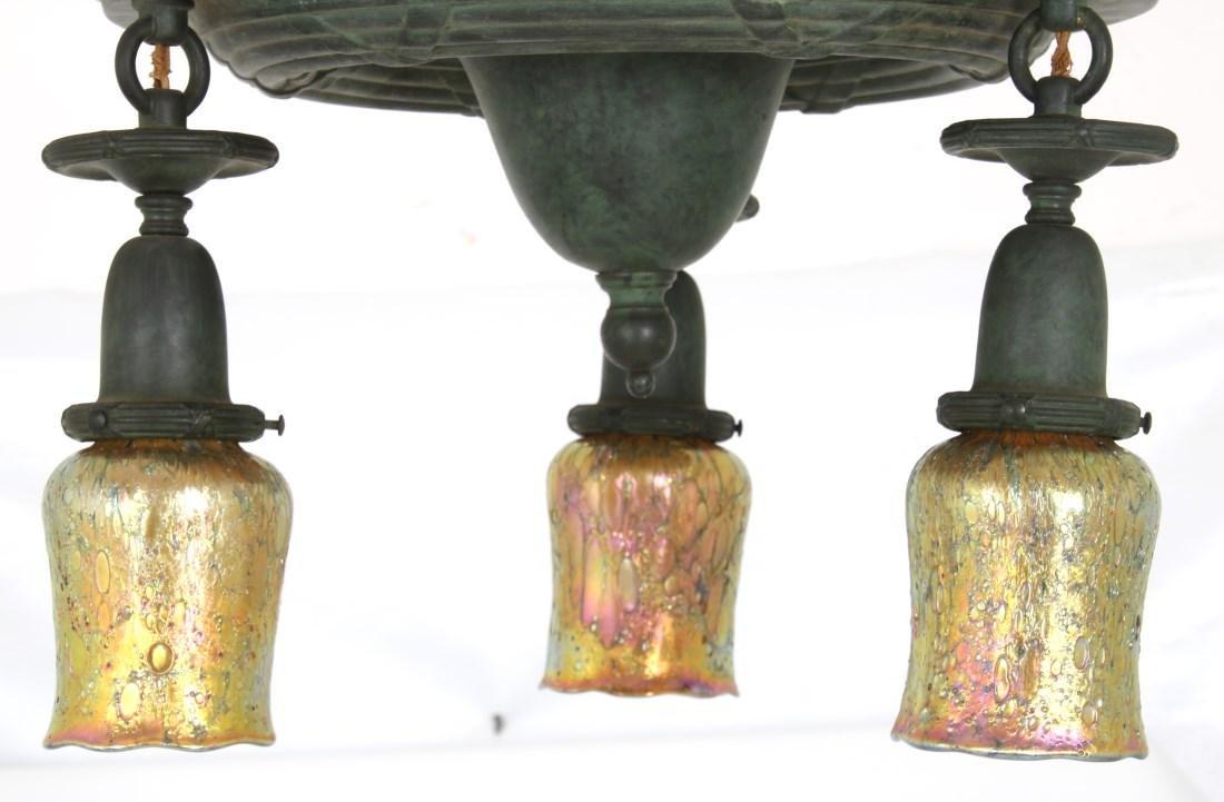 3 Light Brass Ceiling Fixture - 5