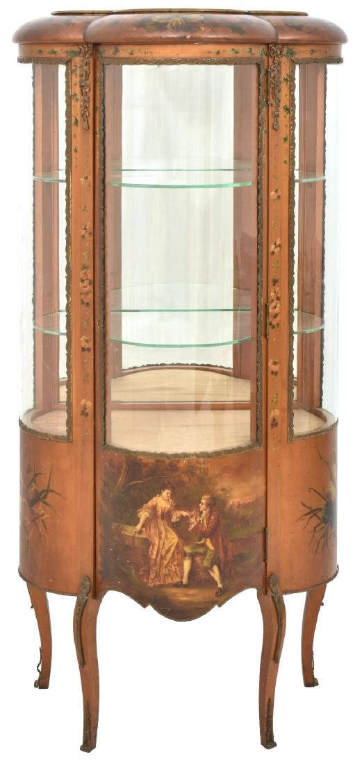 Brass Mounted French Vitrine Curio Cabinet