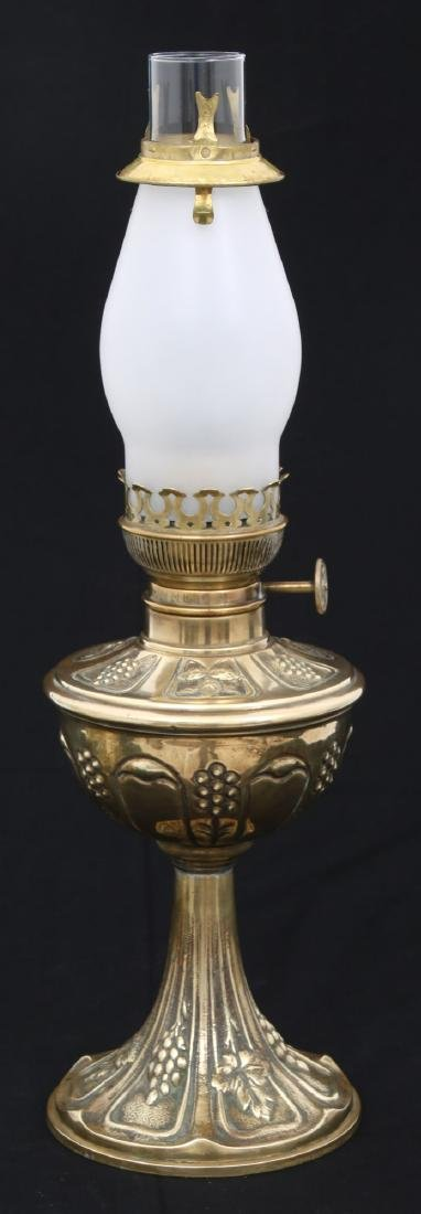 10 in. Jeweled Brass Parlor Lamp - 4