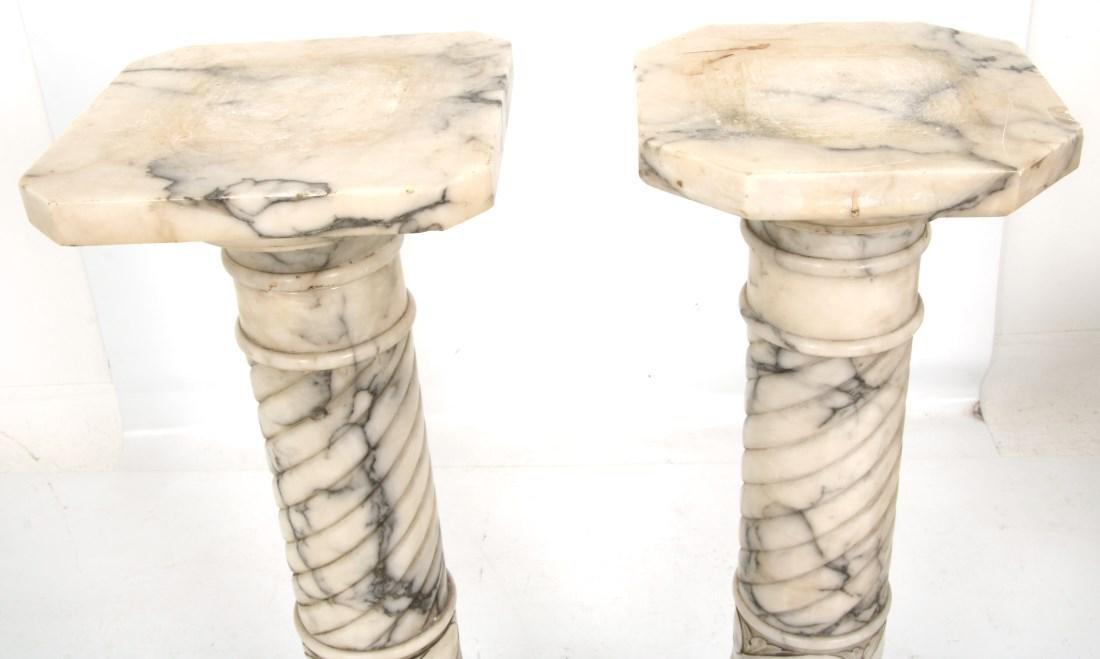 Pr. Carved Marble Pedestals - 2