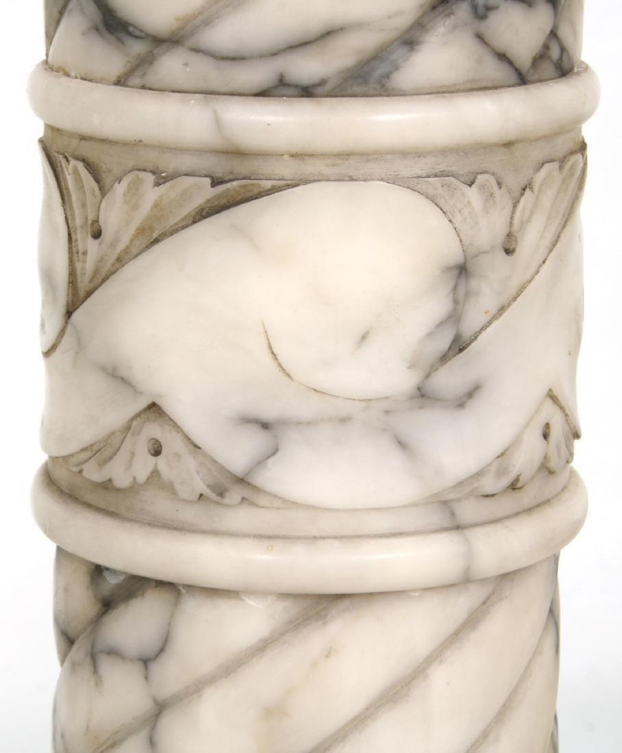 Pr. Carved Marble Pedestals - 6
