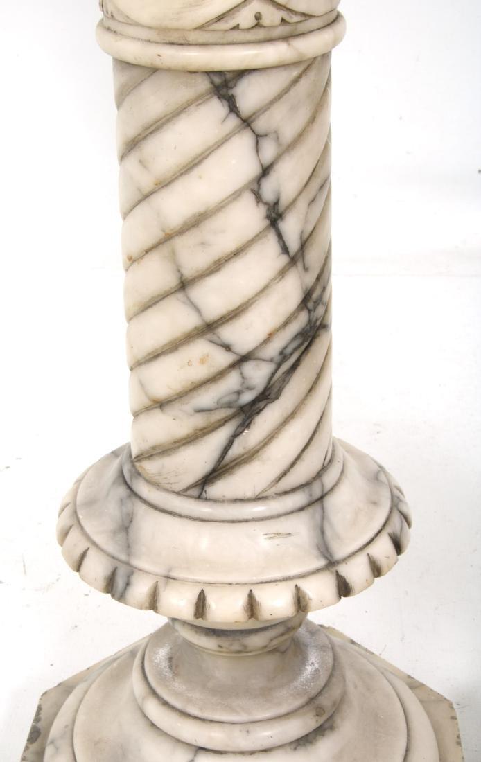 Pr. Carved Marble Pedestals - 7