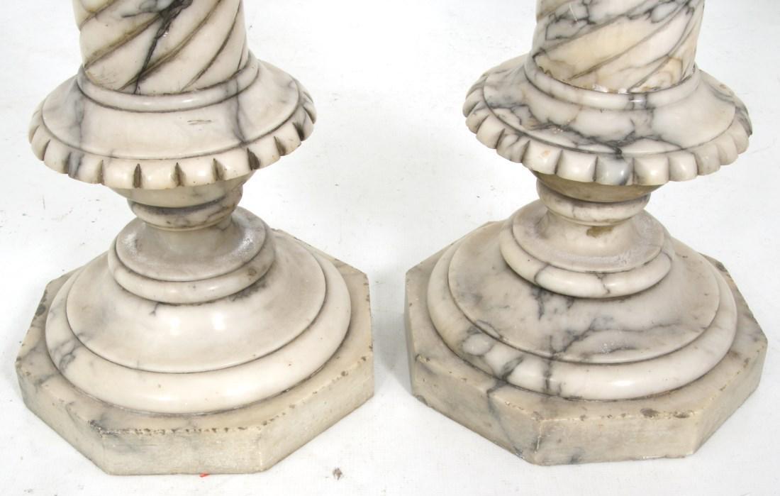 Pr. Carved Marble Pedestals - 8