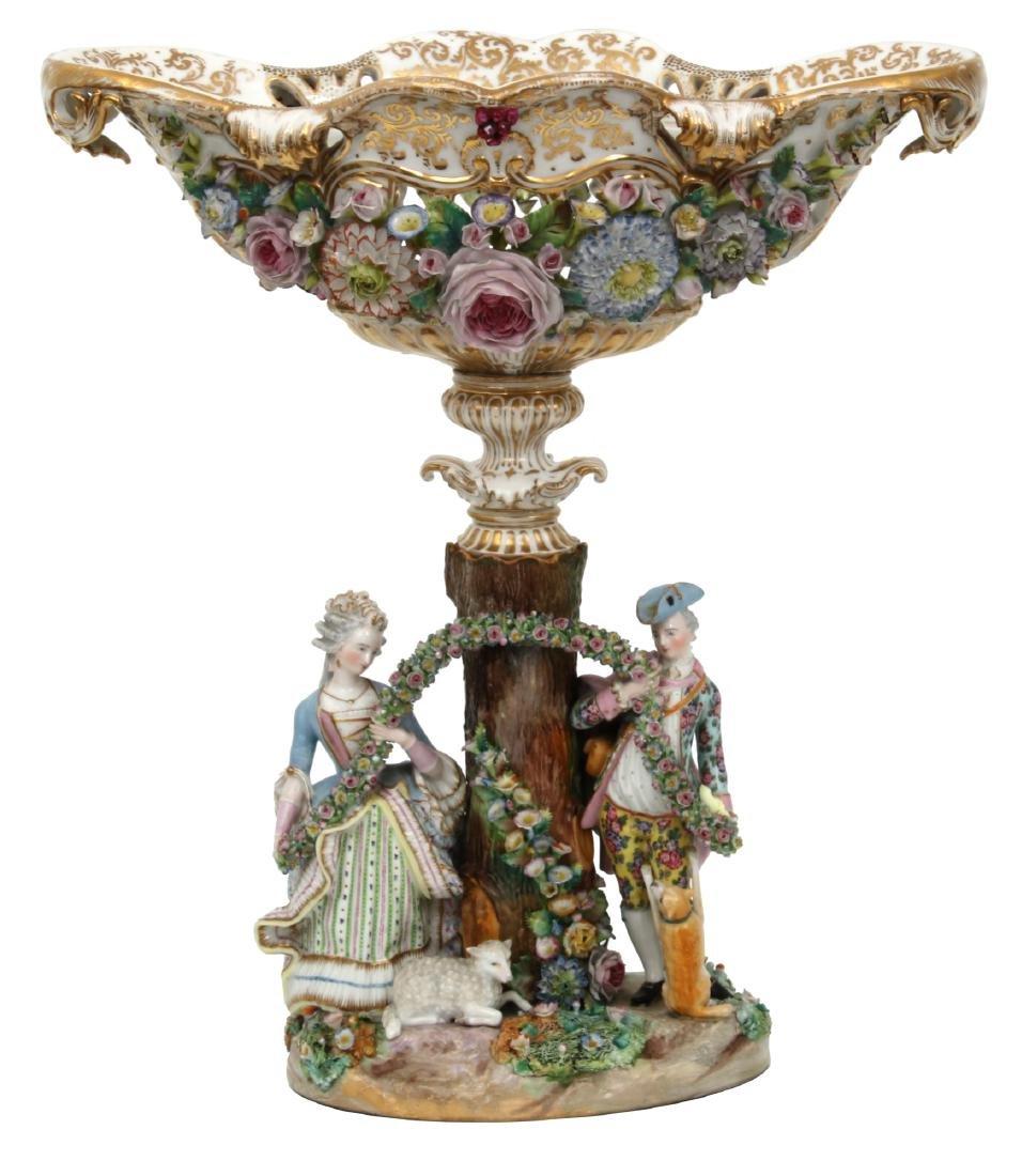 Attr. Meissen Porcelain Figural Centerpiece