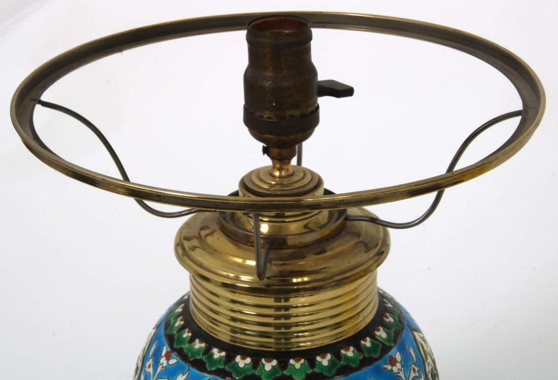 Longwy Pottery Oil Lamp - 5