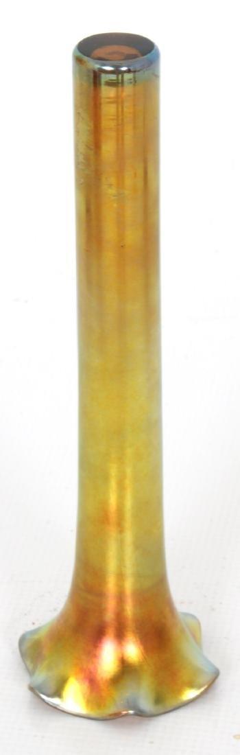 Gold Iridescent Bud Vase attr. Kew Blas - 7