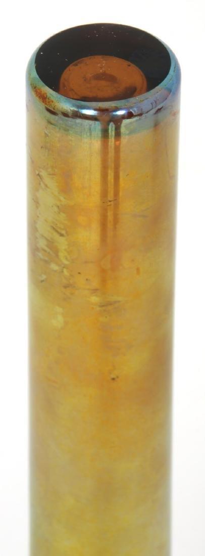 Gold Iridescent Bud Vase attr. Kew Blas - 8