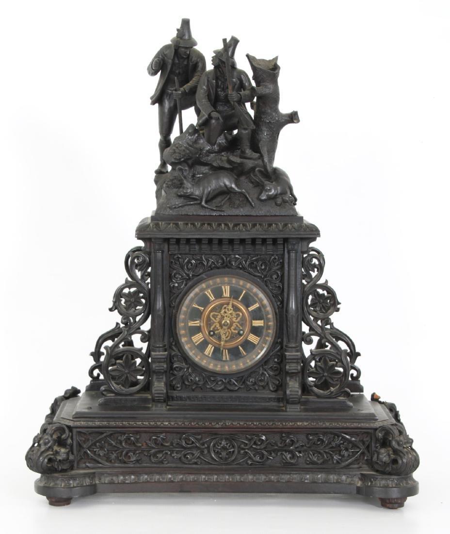 3 Pcs. Carved Black Forest Clock Set - 2
