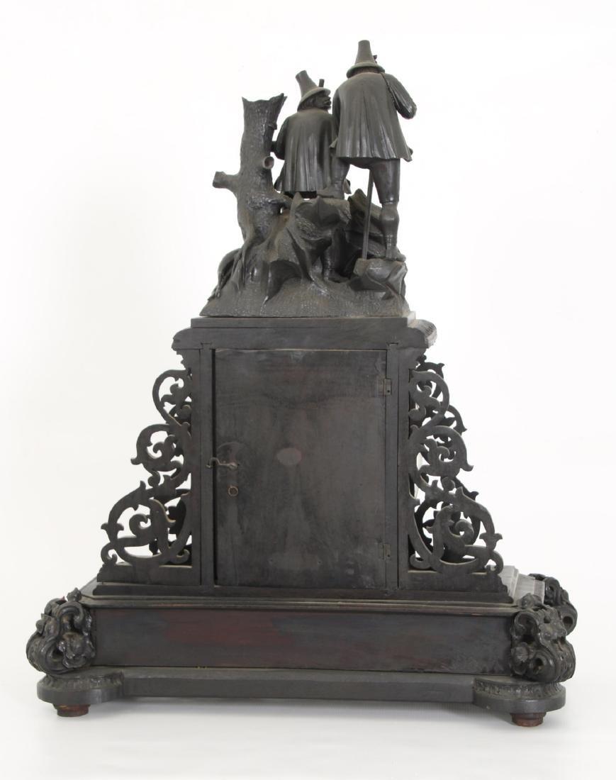 3 Pcs. Carved Black Forest Clock Set - 5