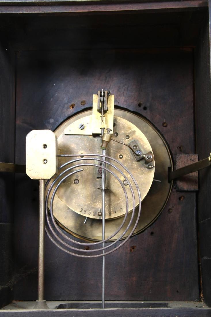 3 Pcs. Carved Black Forest Clock Set - 7