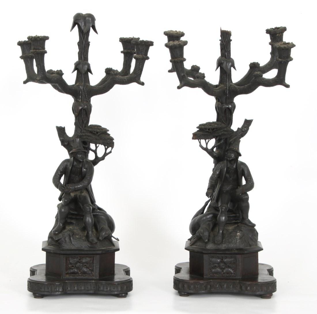 3 Pcs. Carved Black Forest Clock Set - 8