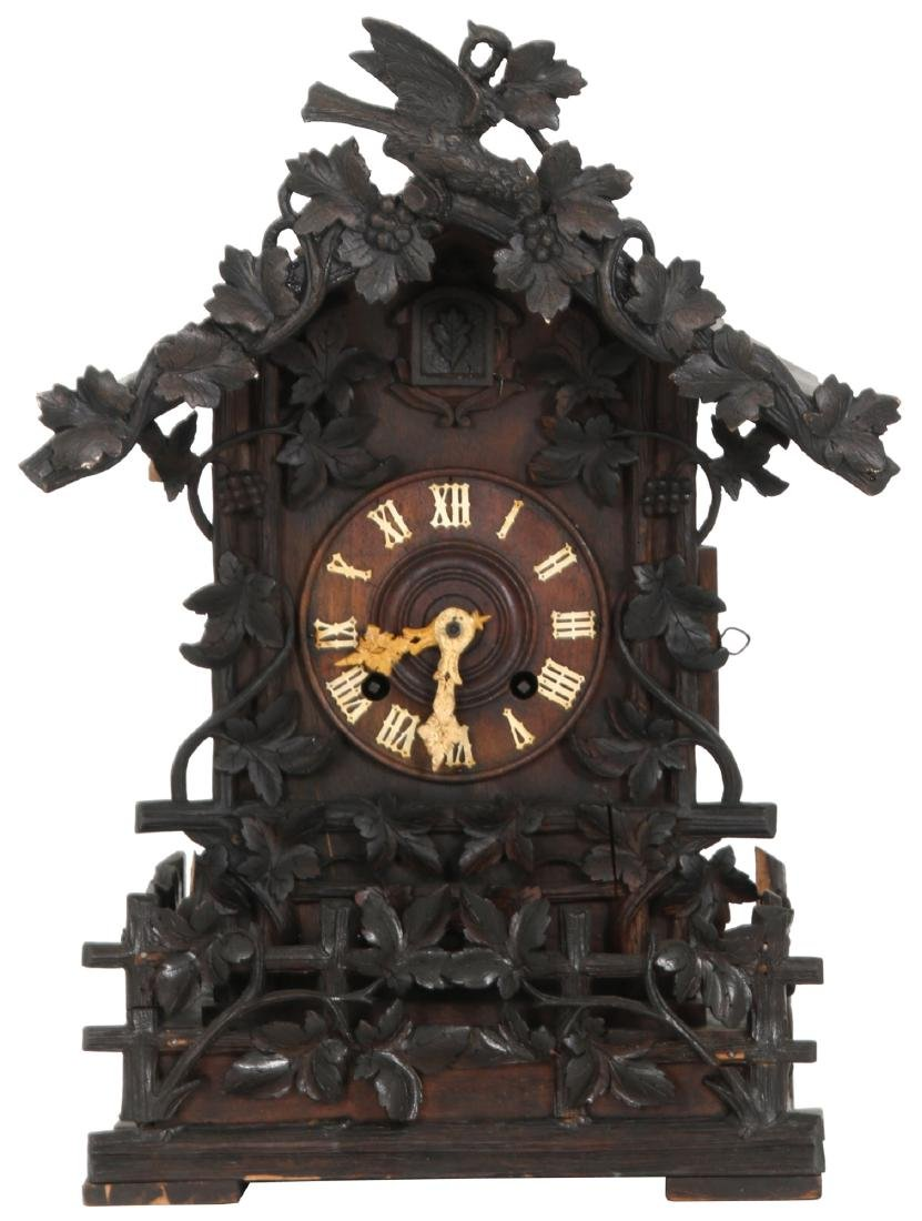 Black Forest Carved Table Cuckoo Clock