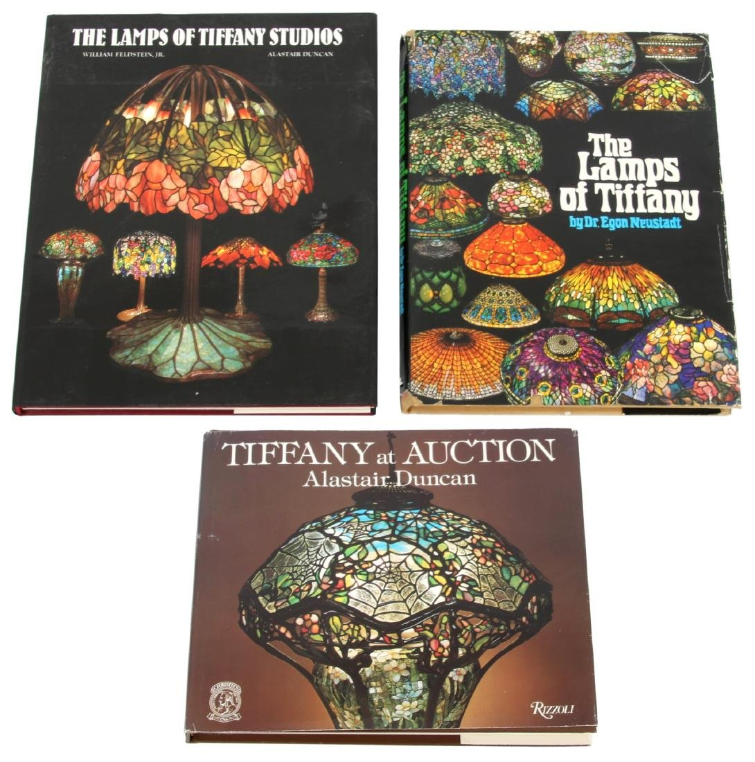 3 Rare Hardcover Books On Tiffany Lamps