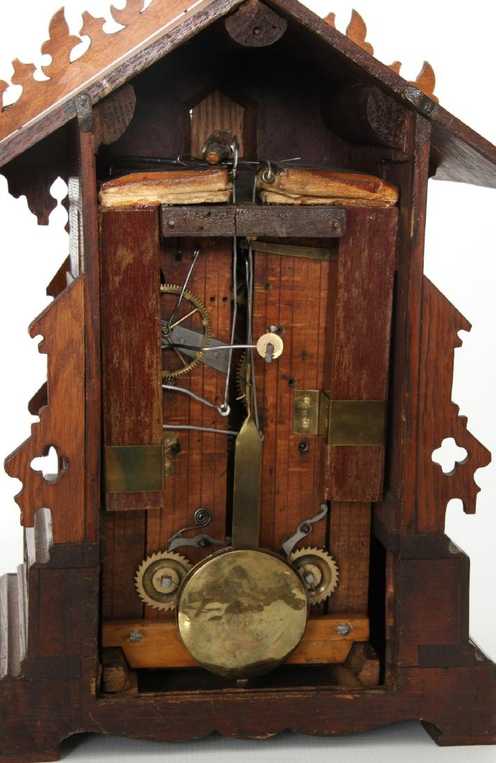 Double Fusee Table Model Cuckoo Clock - 10