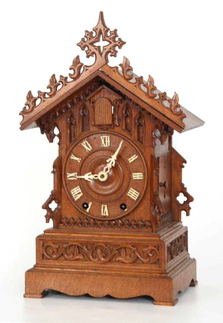 Double Fusee Table Model Cuckoo Clock - 2