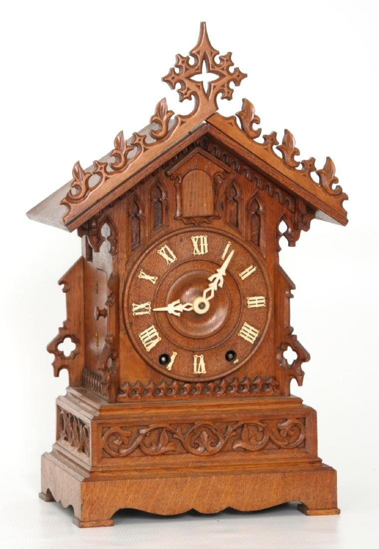 Double Fusee Table Model Cuckoo Clock - 3