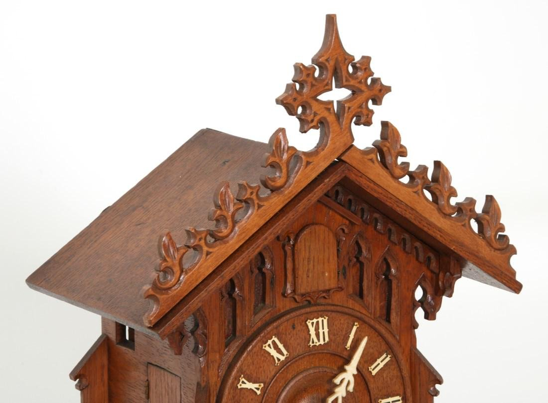 Double Fusee Table Model Cuckoo Clock - 5