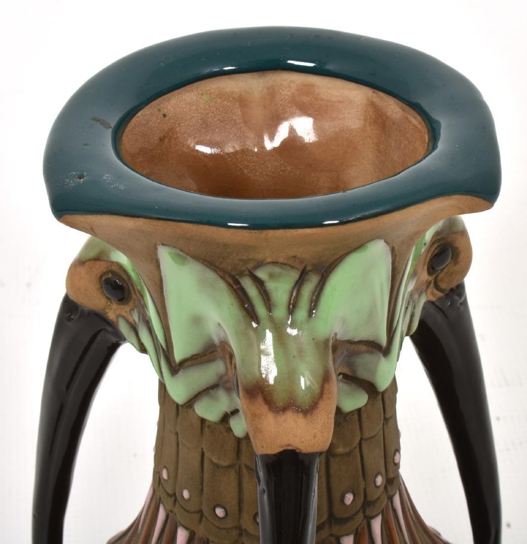 Amphora Handled Vase With Birds - 2
