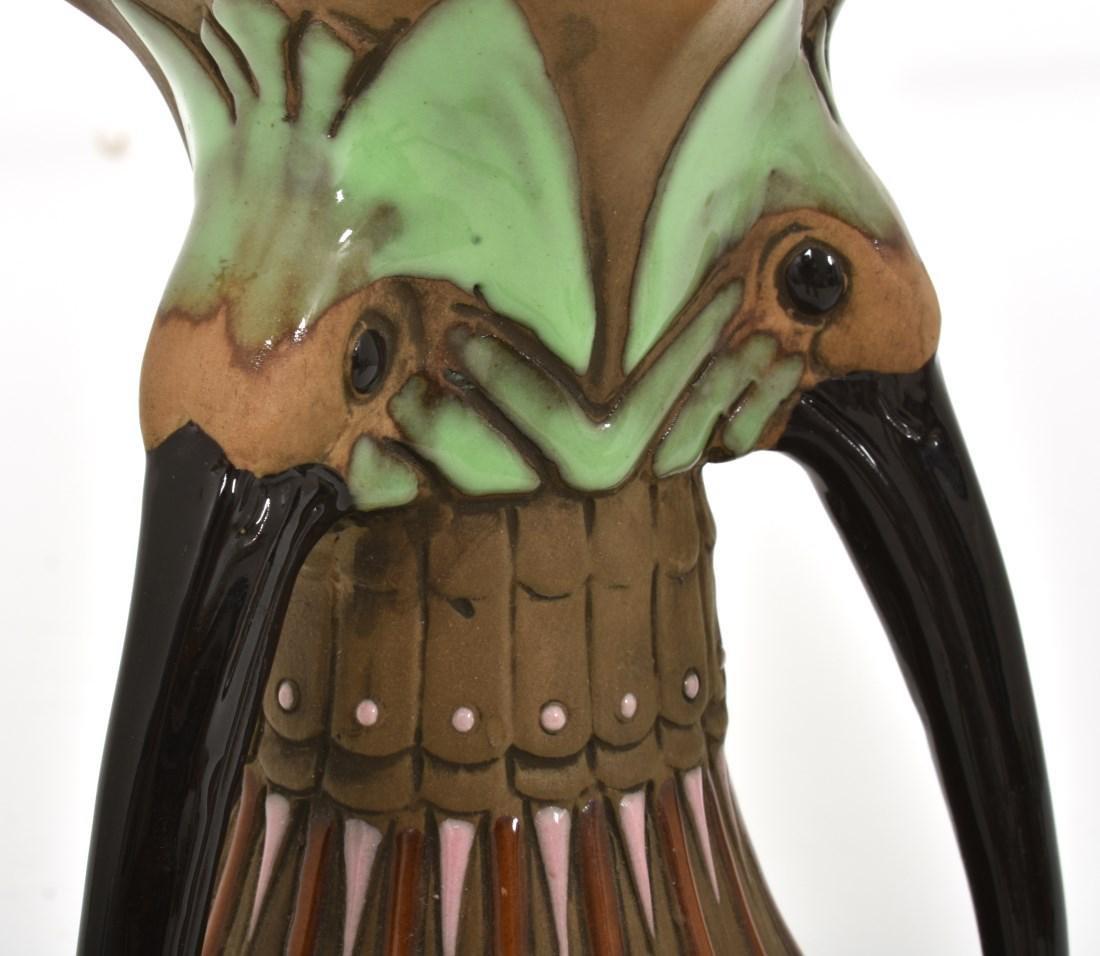Amphora Handled Vase With Birds - 5
