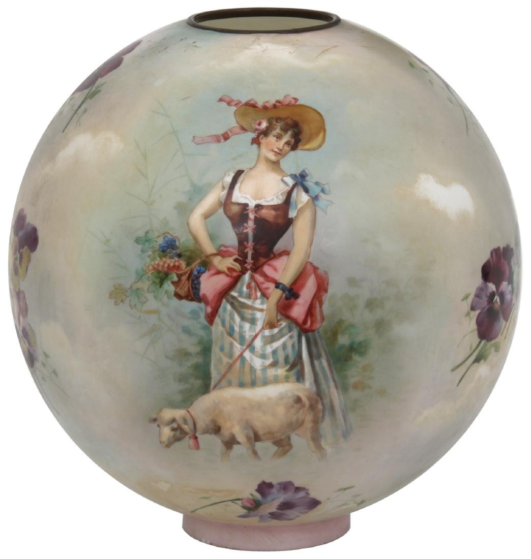 "12 in. ""Little Bo Peep"" Banquet Lamp Globe"