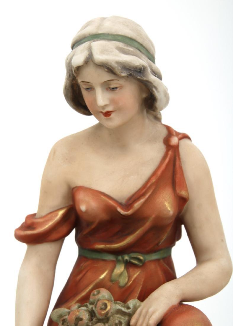Royal Dux Porcelain Figural Centerpiece - 2