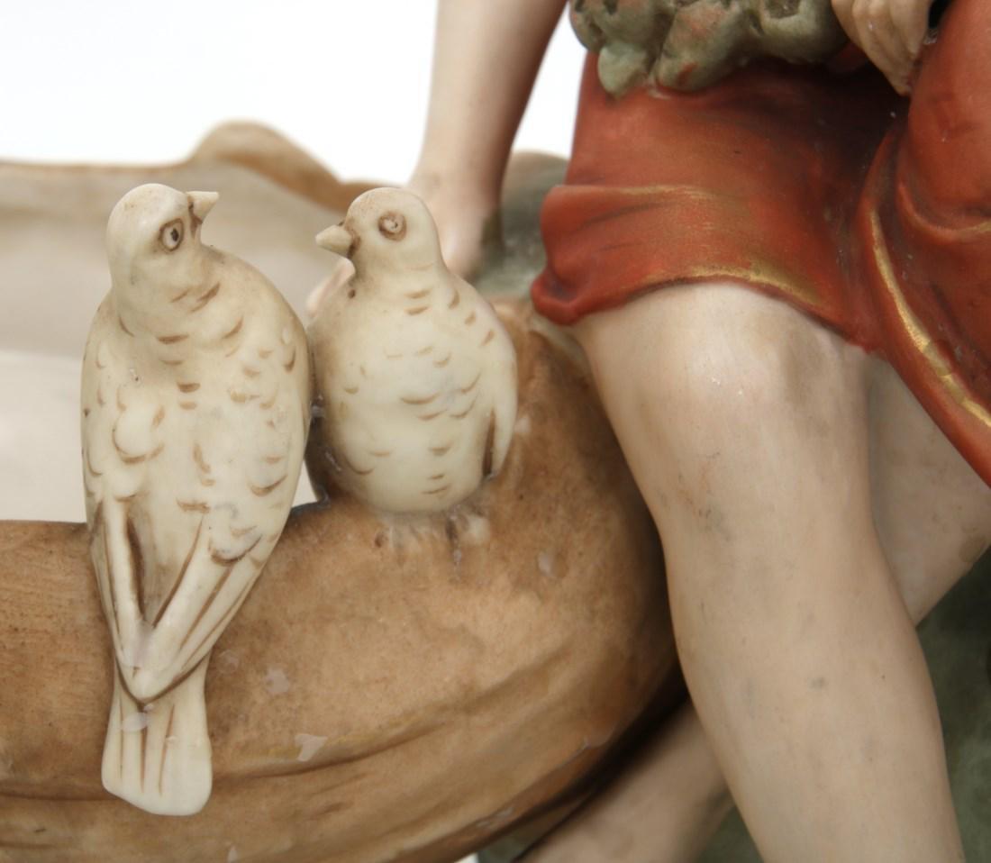 Royal Dux Porcelain Figural Centerpiece - 3