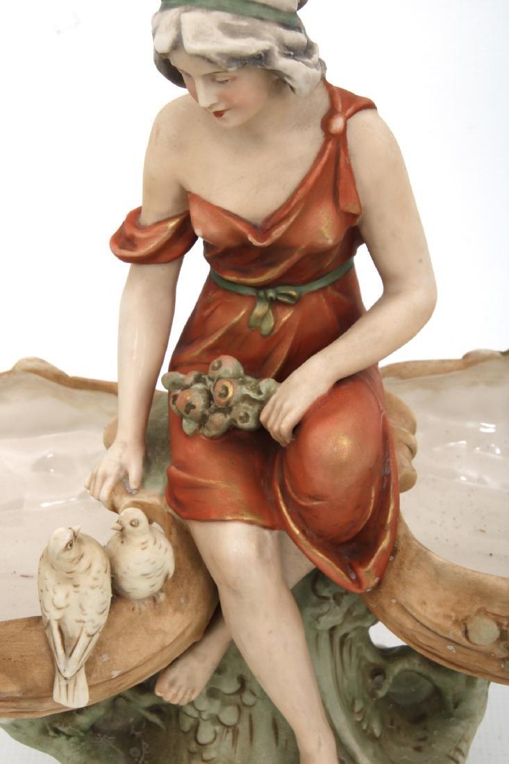 Royal Dux Porcelain Figural Centerpiece - 4