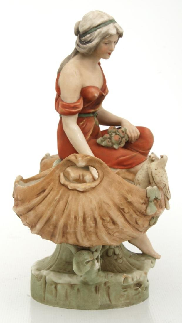 Royal Dux Porcelain Figural Centerpiece - 7