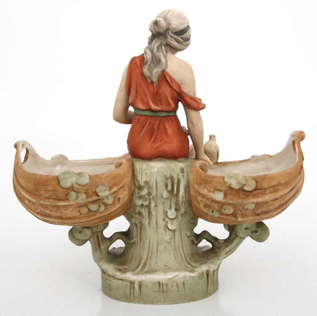 Royal Dux Porcelain Figural Centerpiece - 8