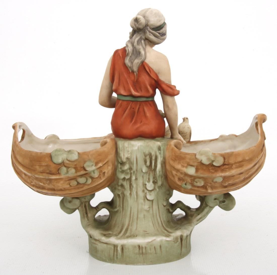 Royal Dux Porcelain Figural Centerpiece - 8