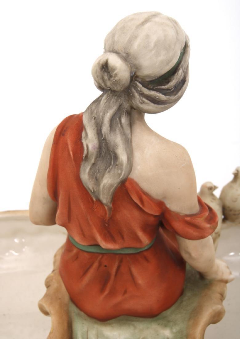 Royal Dux Porcelain Figural Centerpiece - 9