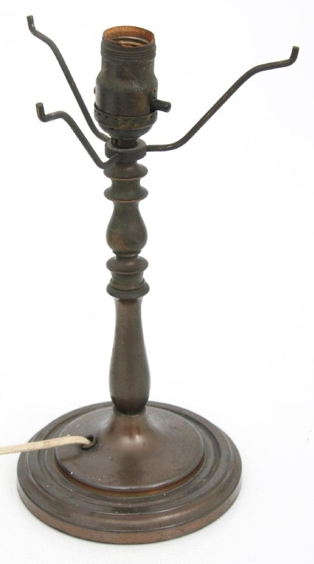 8 in. Czech Glass Floral Boudoir Lamp - 8