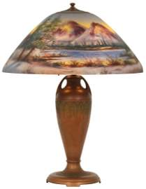 18 in. Moe Bridges Reverse Painted Table Lamp