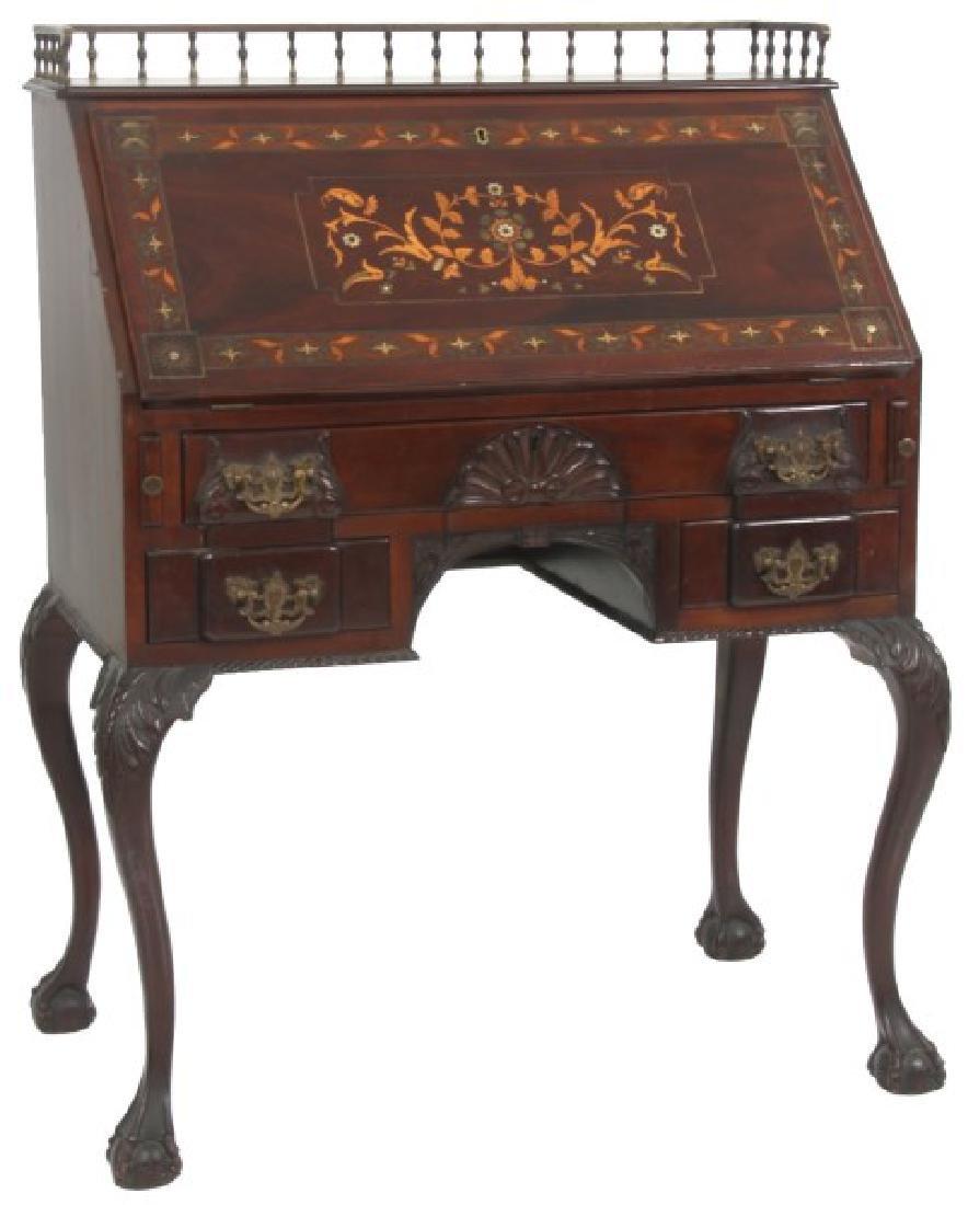 Imlaid Mahogany Slant Front Desk