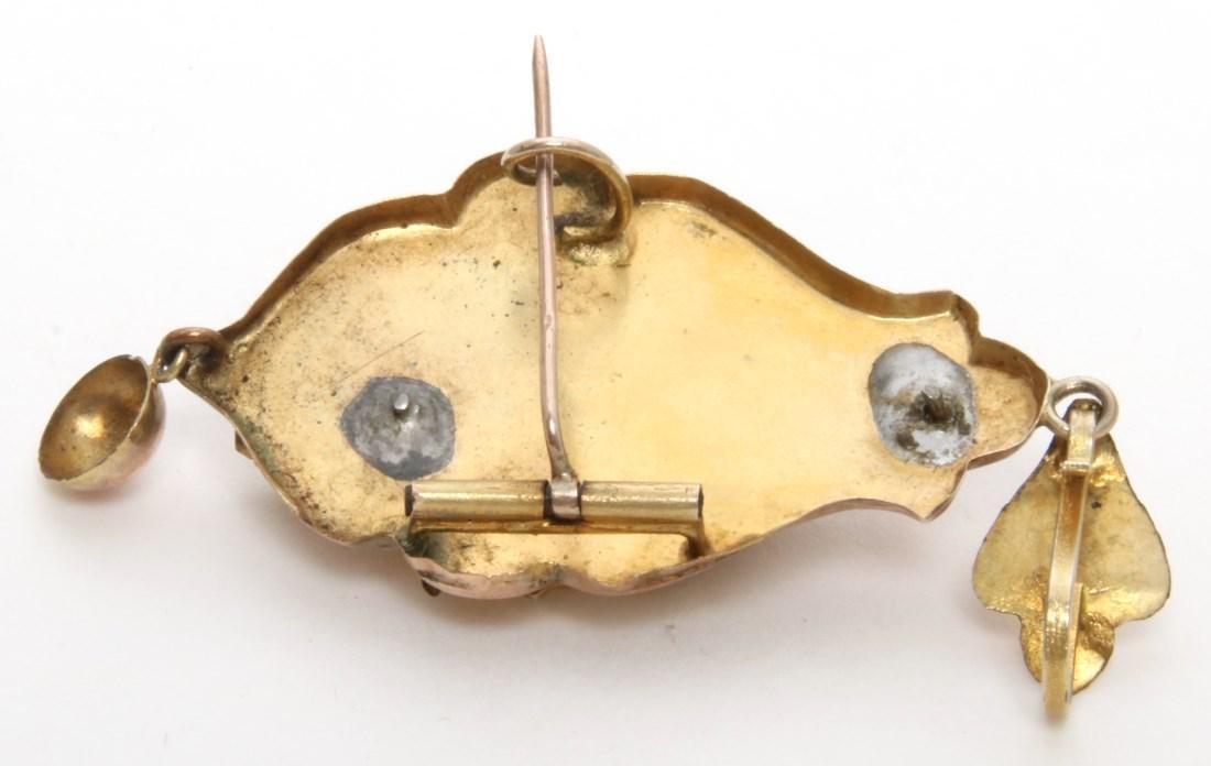 14K Gold Filigree Pendant and Earrings - 9