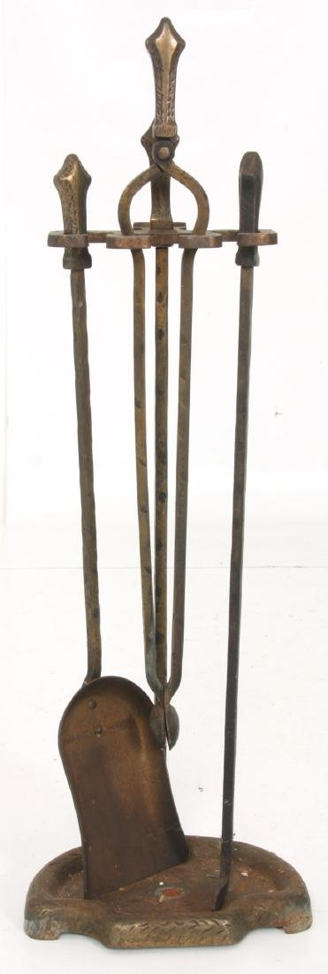 2 Sets of Andirons & Fireplace Tools - 6