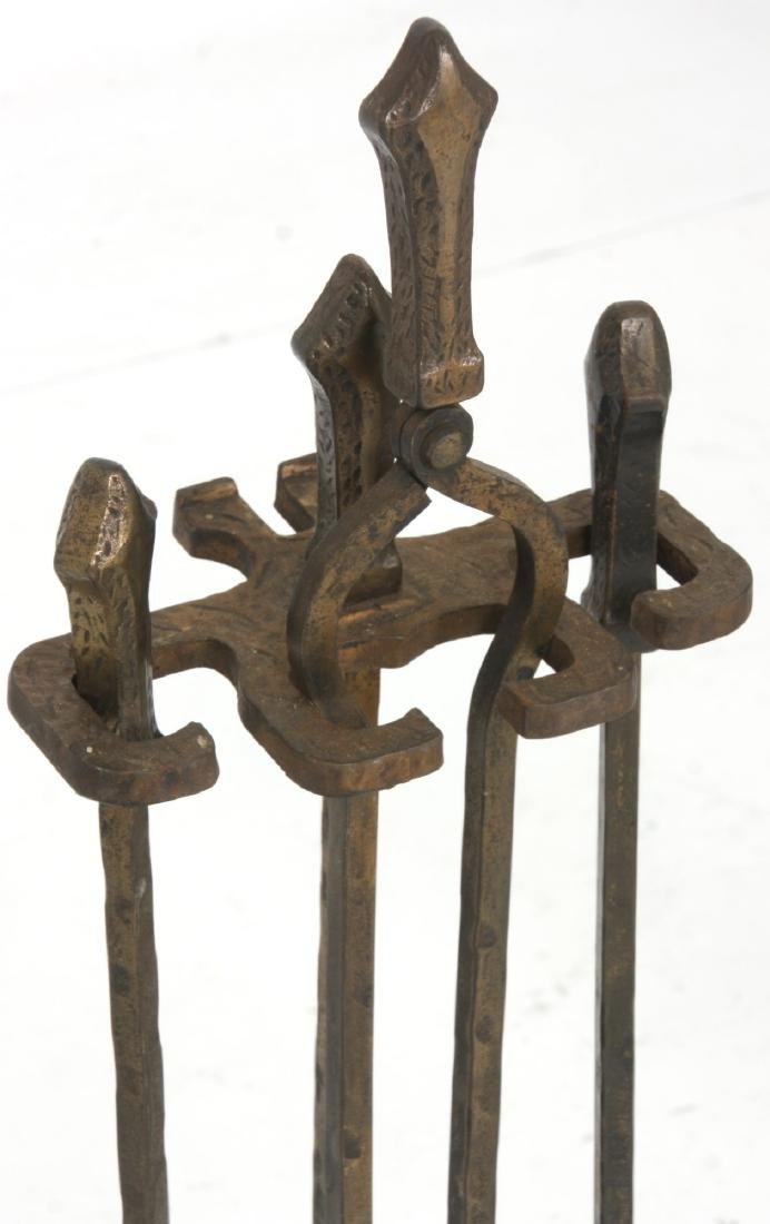 2 Sets of Andirons & Fireplace Tools - 7