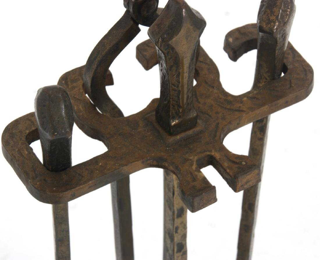 2 Sets of Andirons & Fireplace Tools - 9