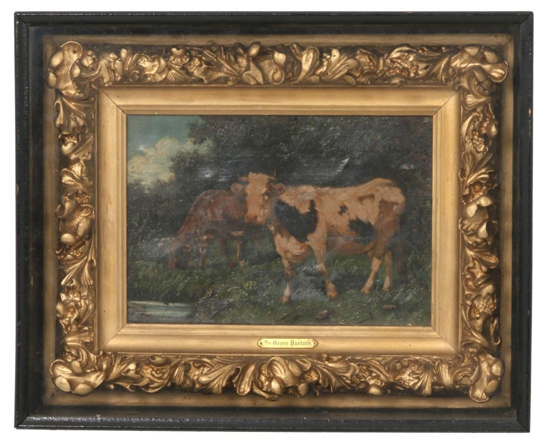 Signed A. Torres Pastoral Scene Painting