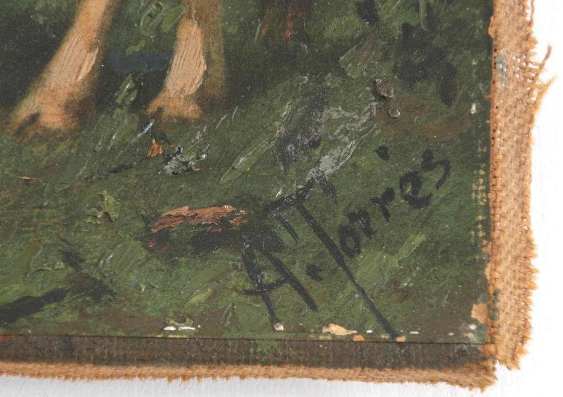 Signed A. Torres Pastoral Scene Painting - 7
